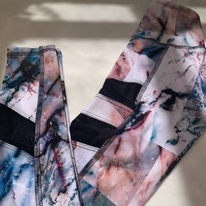 Strut ankle legging - XS print & Mesh